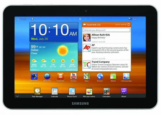 Galaxy tablet