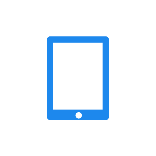 HISR tablet icon (blue white)